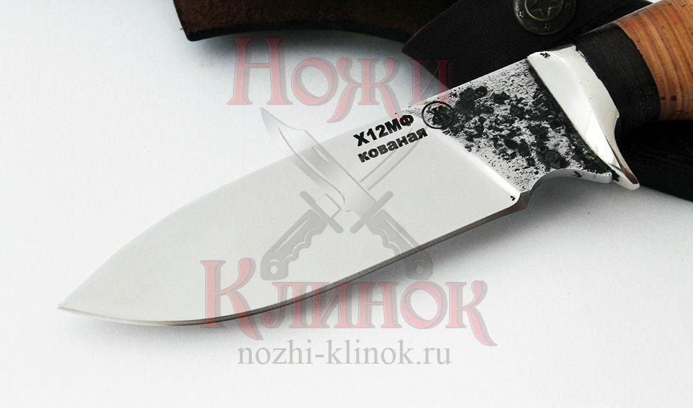 Нож Бобр (х12мф, береста-венге)